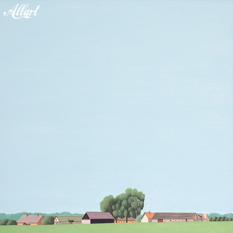 skåne län iii, 100 x 100 cm, oil, 2017