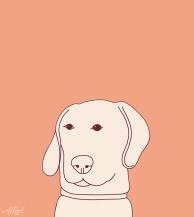 Roze Hond / 20x20cm / oplage 50