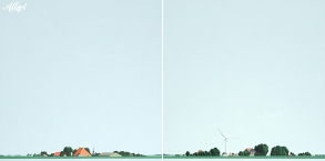 Friesland (NL) / 100x100 diptich / acryl / 2012 / Jeroen Allart