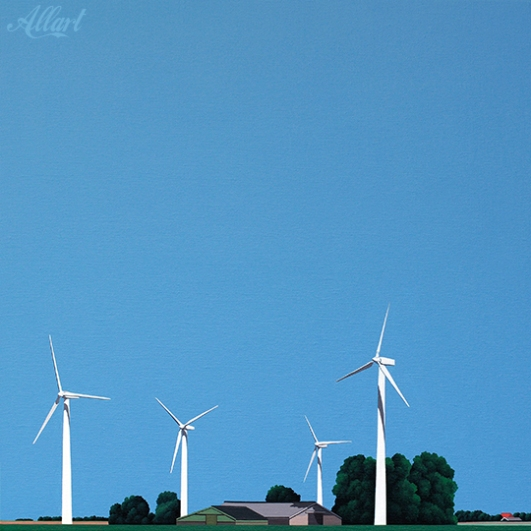 Zuid-Holland (NL) / 40x40 / acryl / 2009 / Jeroen Allart