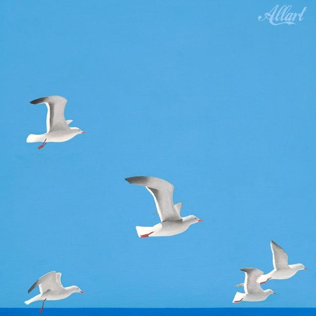 meeuwen / 40x40cm / acryl / © Jeroen_Allart / 2012