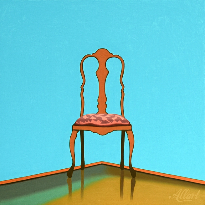 Chair / 40x40 / oil / Jeroen Allart / 2019