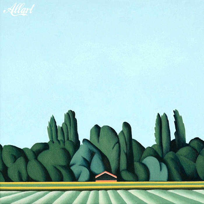 Landscape / 40x40 / oil / Jeroen Allart / 2019