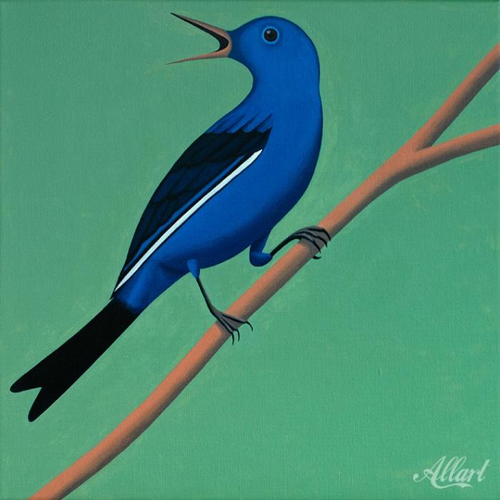 Bird / 40x40 / oil / Jeroen Allart / 2019