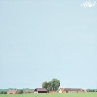 Oil painting of Sweden, Skåne län. Skåne län / 80x80cm / oil / © Jeroen Allart / 2017