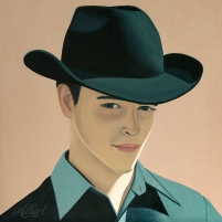 Oil painting of Cowboy Sep Cowboy Sep / 100x100cm / oil / © Jeroen Allart / 2020
