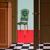Oil painting of a Styleroom Styleroom/ 80x100cm / oil / © Jeroen Allart / 2020