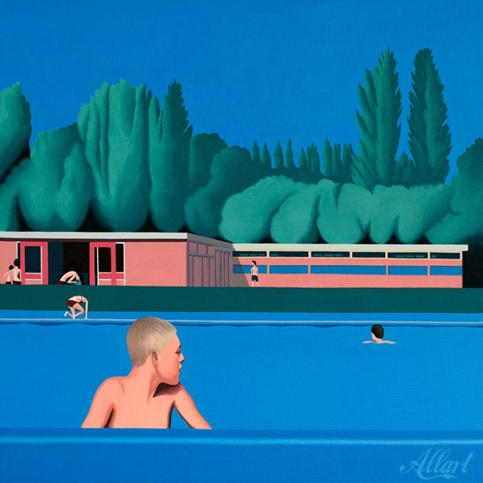 Swimmingpool / 60x60cm / oil / © Jeroen Allart / 2020